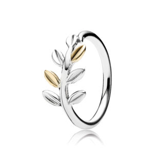 PANDORA Sterling-Silber Blätter-Ring mit 14-K-Gold CHF 99.--