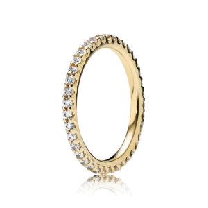 PANDORA 14-K-Gold Ring mit Zirkonia Schmucksteinen CHF 449.--