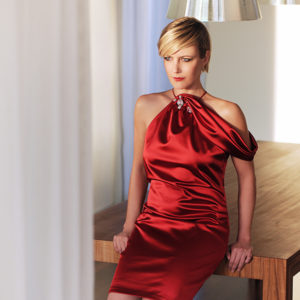 Andrea Sauter Schweizer Fashiondesignerin - Look 19 Dress Red