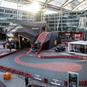Der neue Audi e-tron am Flughafen München