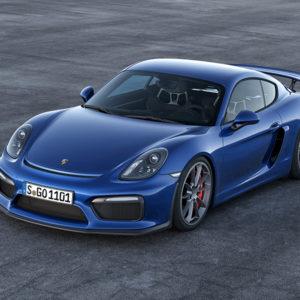 Blauer neuer Porsche Cayman GT4 CHF 104'700