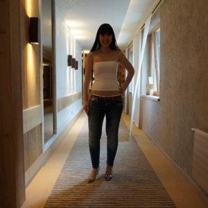 Boxen mit Regina Halmich im STOCK resort - Wolford