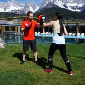 Boxtraining mit Björn im Stanglwirt Bio- und Wellnesshotel in Tirol