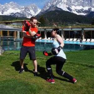 Boxtraining im Stanglwirt Bio- und Wellnesshotel in Tirol