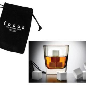 Gewinne Goodies für «FOCUS» Set weissen Whiskey Steinen