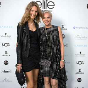 Manuela Frey (Siegerin 2012) und Ursula Knecht (Option Model Agency)