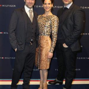 Matthias Matschke, Bibiana Beglau und Misel Maticevic - Tommy Hilfiger Berlin eröffnete Anchor Store