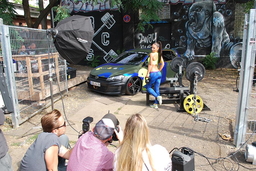 Miss Tuning Kalender - Shooting mit Liane Günter lief auf Hochtouren