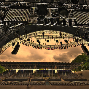 Mit AudioRent Clair Backstage am Live at Sunset