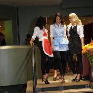 Modeschau Kochschürzen von Cookinesi mit Zoe Torinesi
