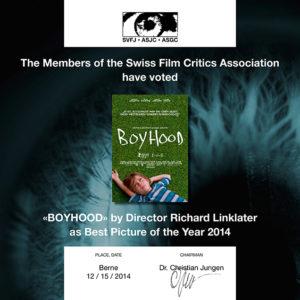 Preis der Schweizer Filmkritik - «Boyhood»