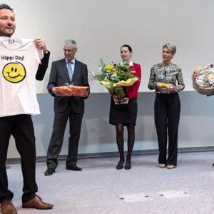 Gregor Loser, Christian Fiechter, Jana Federer, Ständerätin Karin Keller-Sutter und Christoph Rotermund